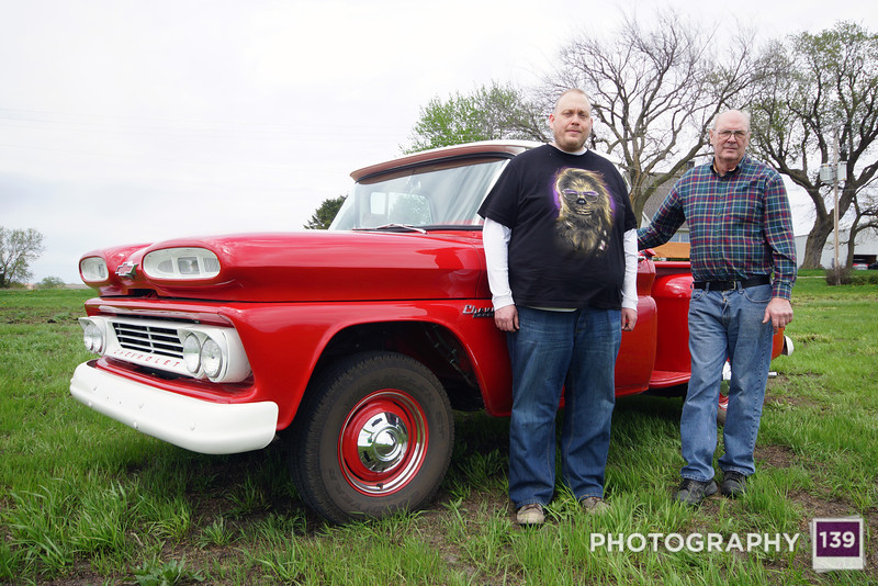 Steven and David Junck with their restored 1960 Chevy Apache