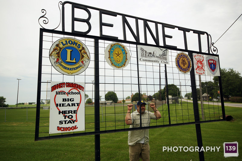 I attained my goal of being a Bennett in Bennett. (Photo by Jesse Howard)