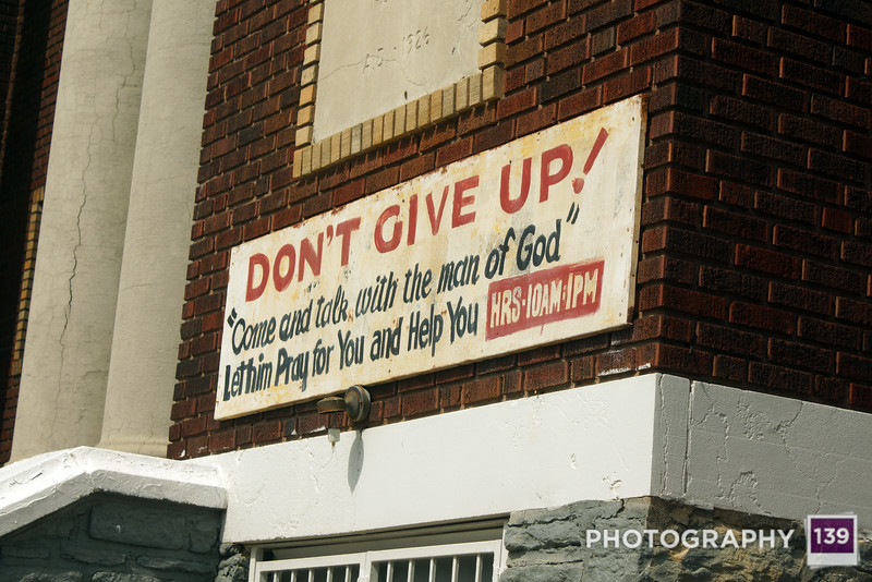A church sign I found amusing on Vine Street in Kansas City. (Photo Assistant: Nate Miller)