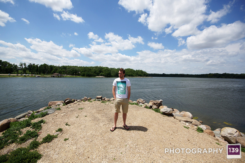 Logan hanging out at Swan Lake State Park in Carroll, Iowa.