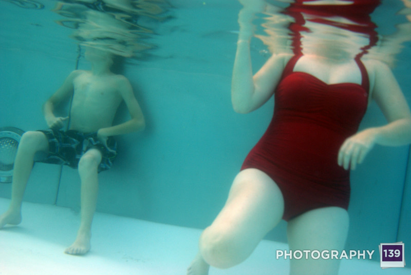 Barb and her son were great guinea pigs for the new underwater camera bag. Good thing we ran into them at the pool.