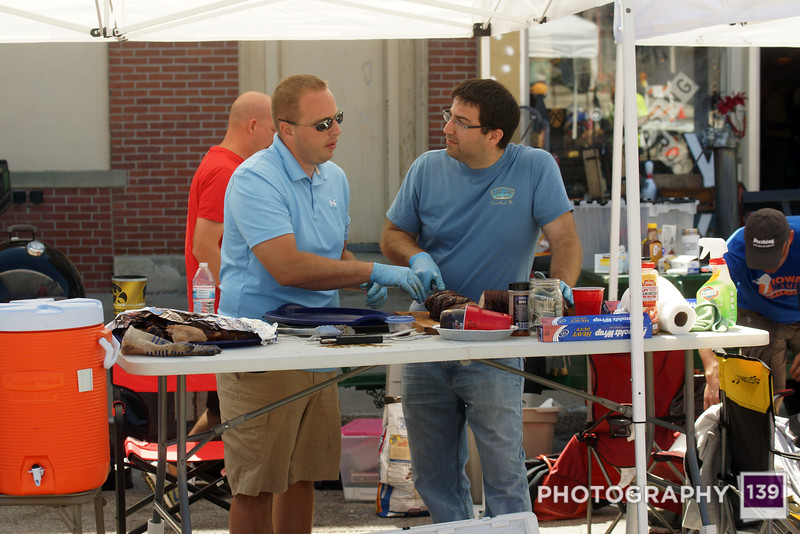 Team Baby Got Rack at the 2014 Pufferbilly Days Barbecue Contest.
