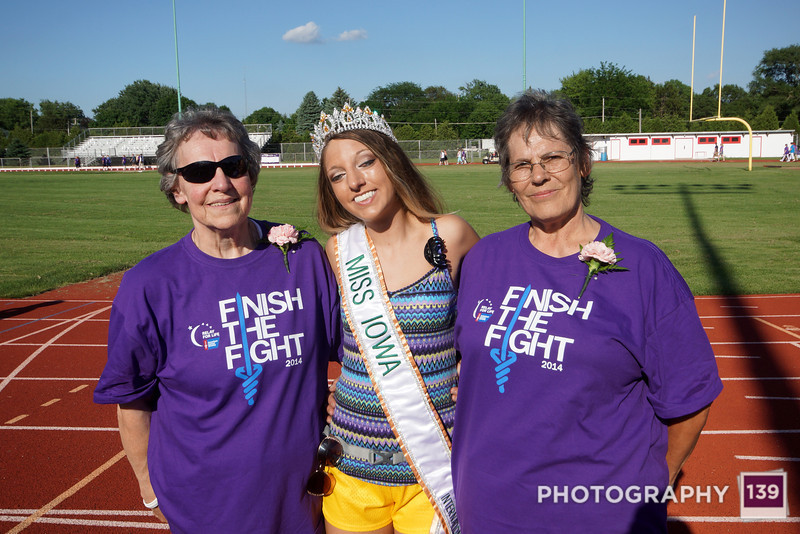 Mom and Annie with Miss Iowa at Relay for Life.